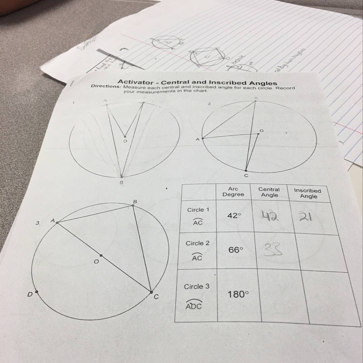 Inscribed Angles Worksheet Answer Key