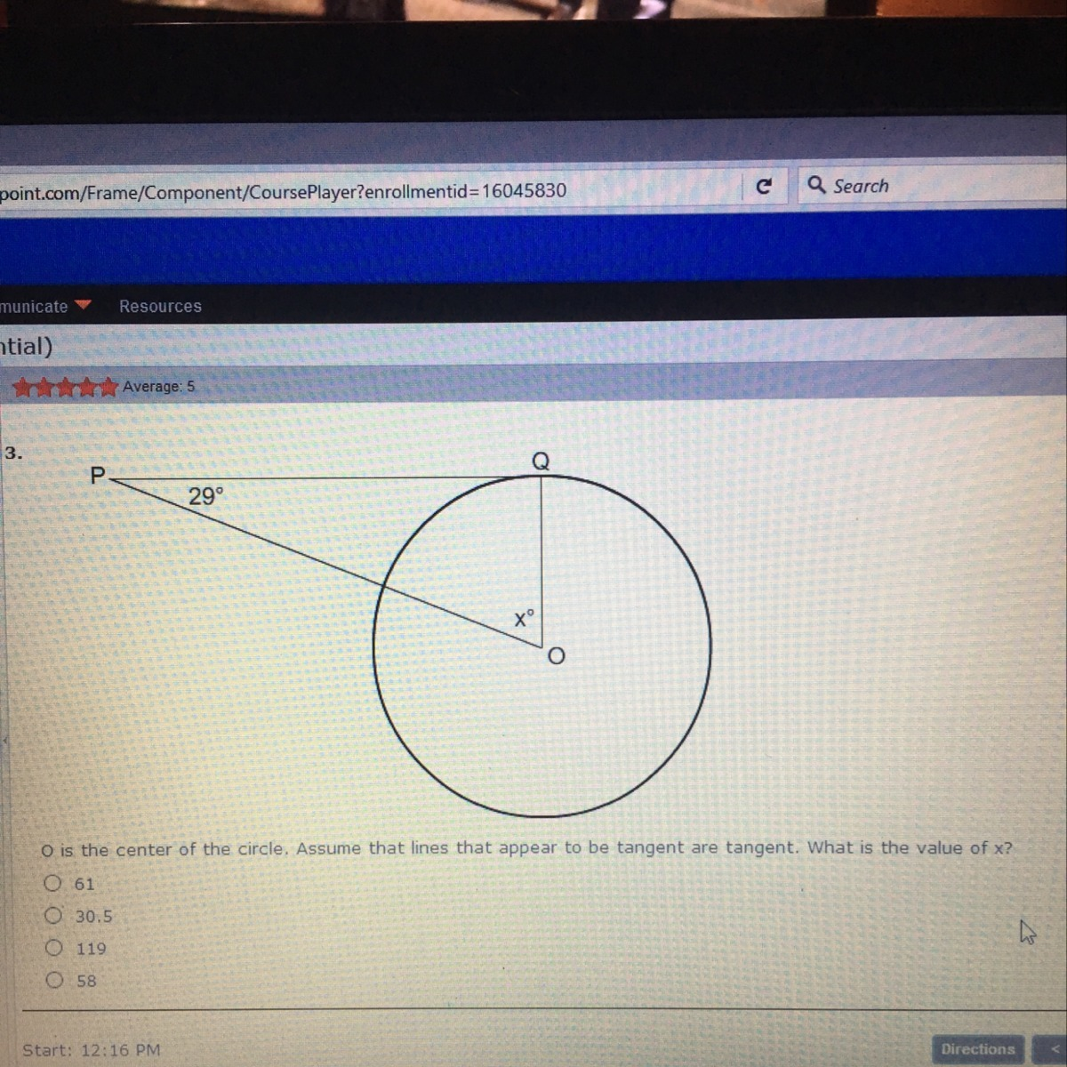 O Is The Center Of The Circle Assume That Lines That