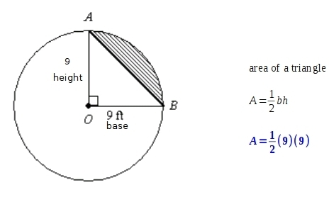 PLEASE HELP GEOMETRY!! The area of sector AOB is 20.25 pi
