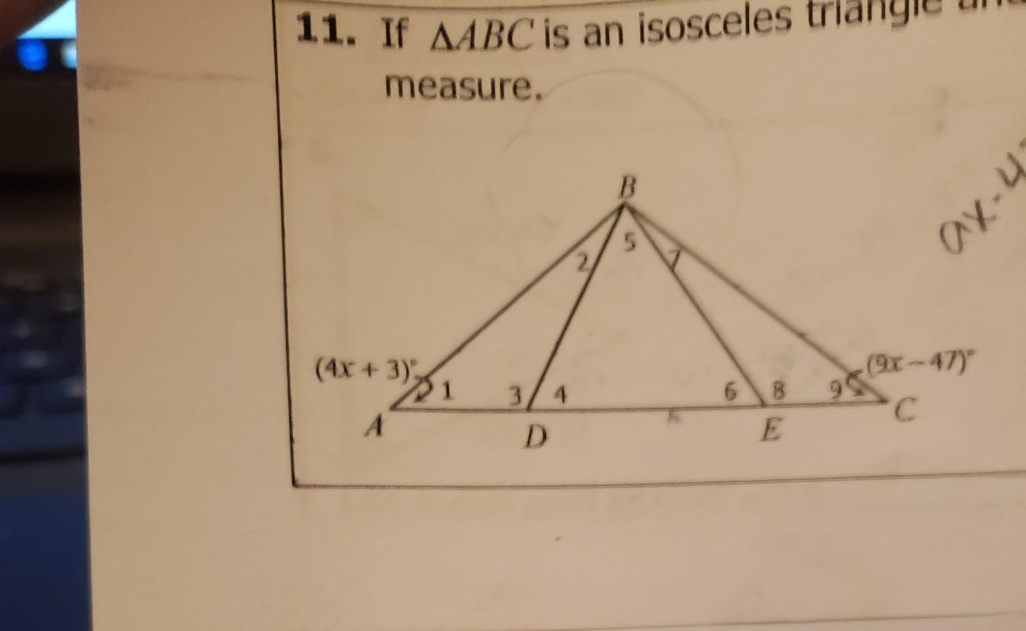 11 If Triangle Abc Is An Isosceles Triangle And Triangle