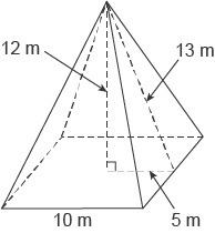 What is the volume of this square pyramid? Enter your