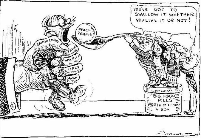 This political cartoon describes the peace process after