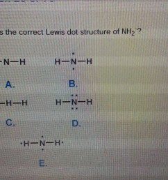 which is the correct lewis dot structure of nh2  [ 3264 x 1836 Pixel ]