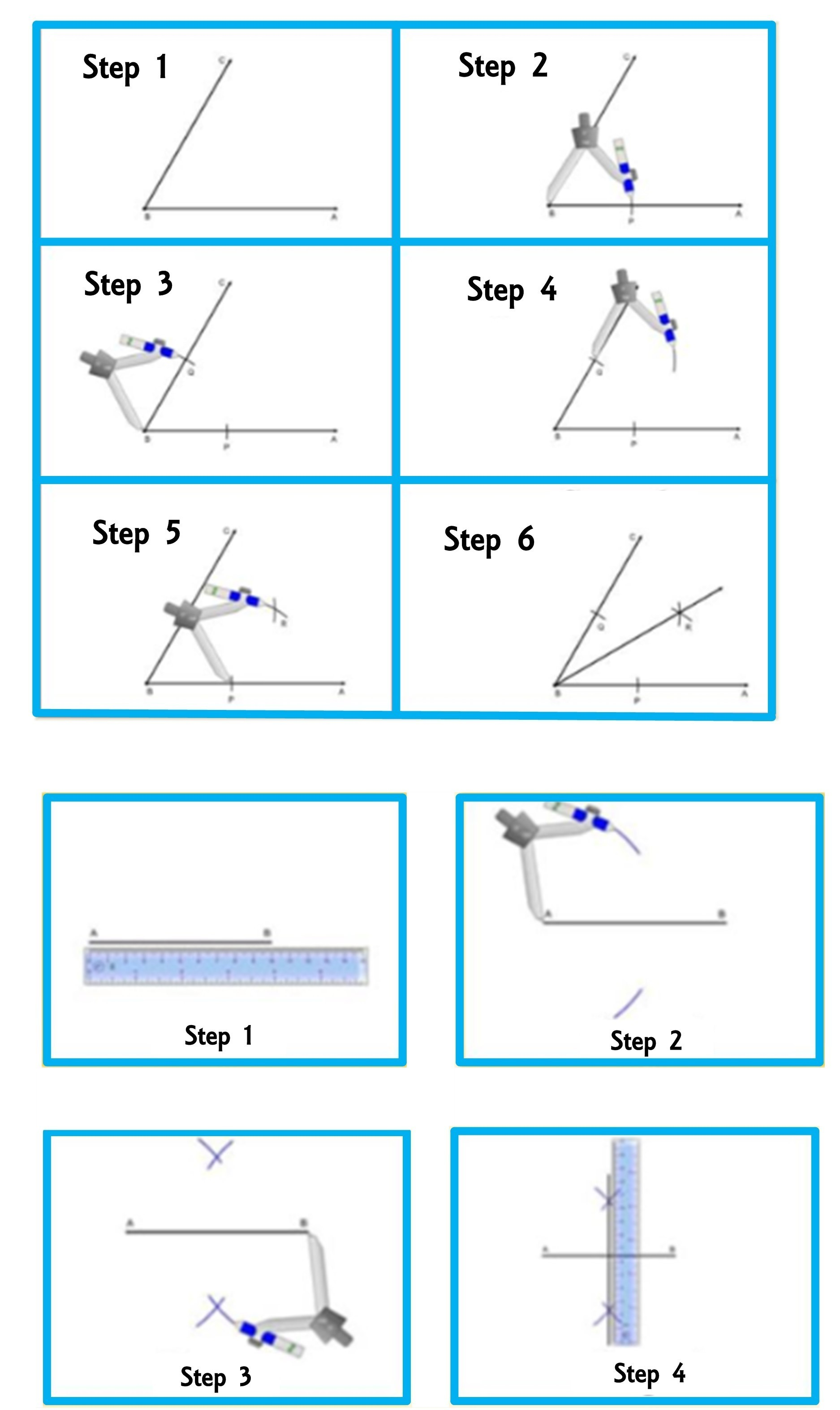 Constructions Below Construct An Angle Bisector And A