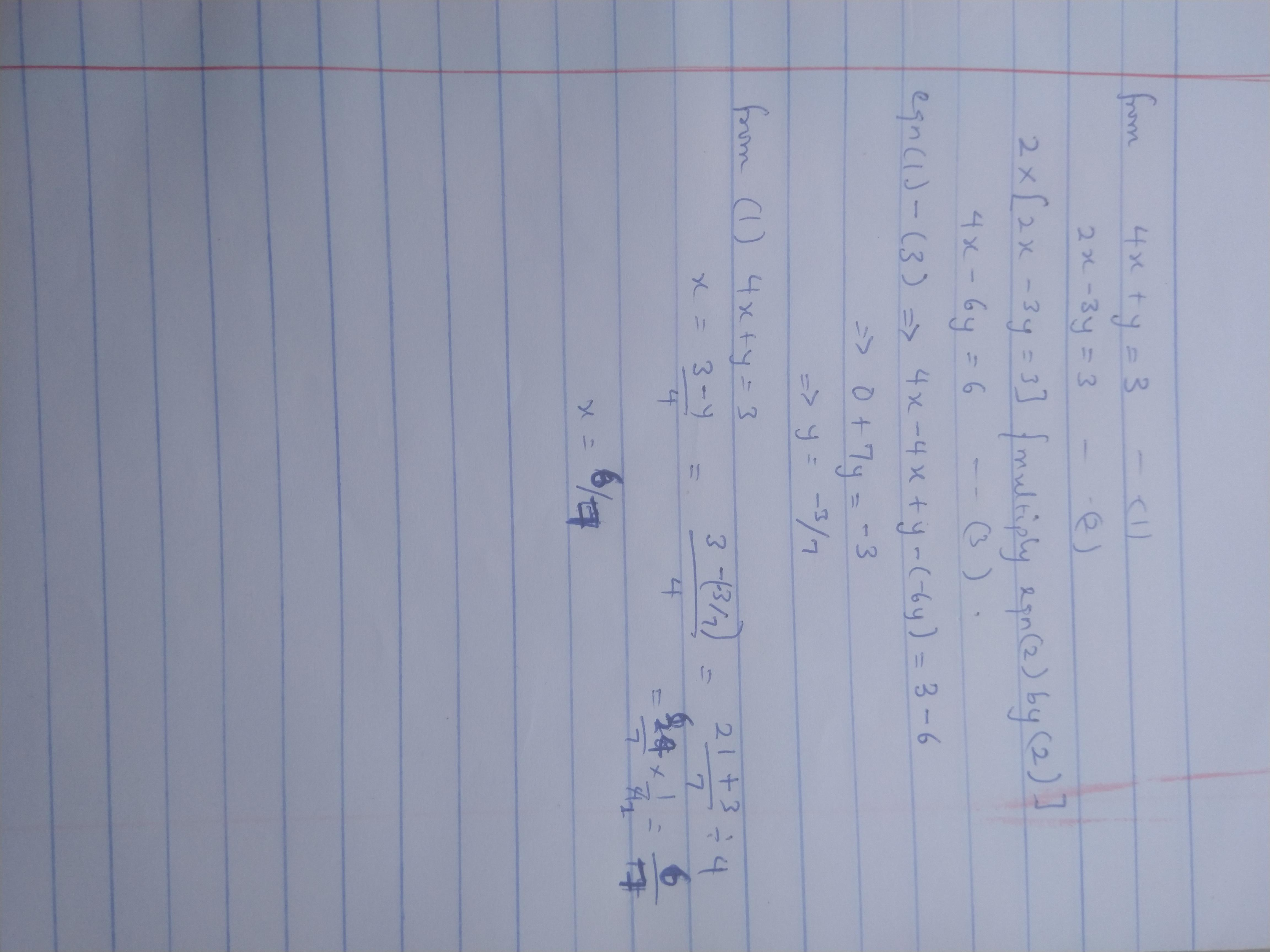 Which Graph Shows The System Of Equations 4 X Y 3 And