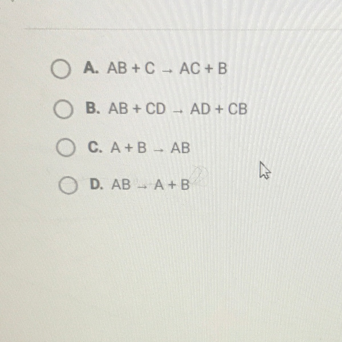 Which one of the following is the general equation for a