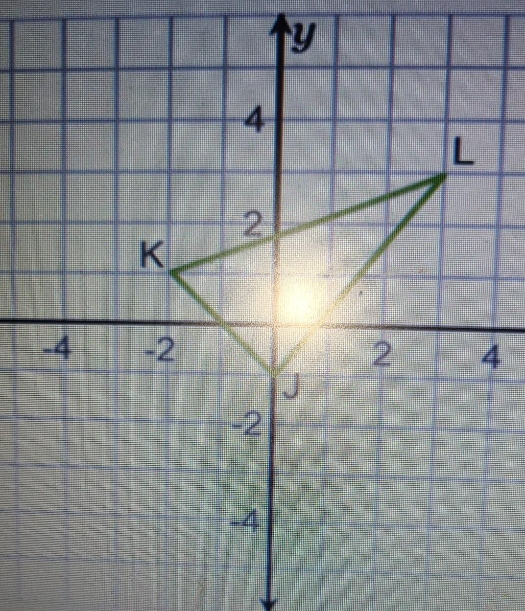 Reflect The Triangle Over The Y Axis And Find The