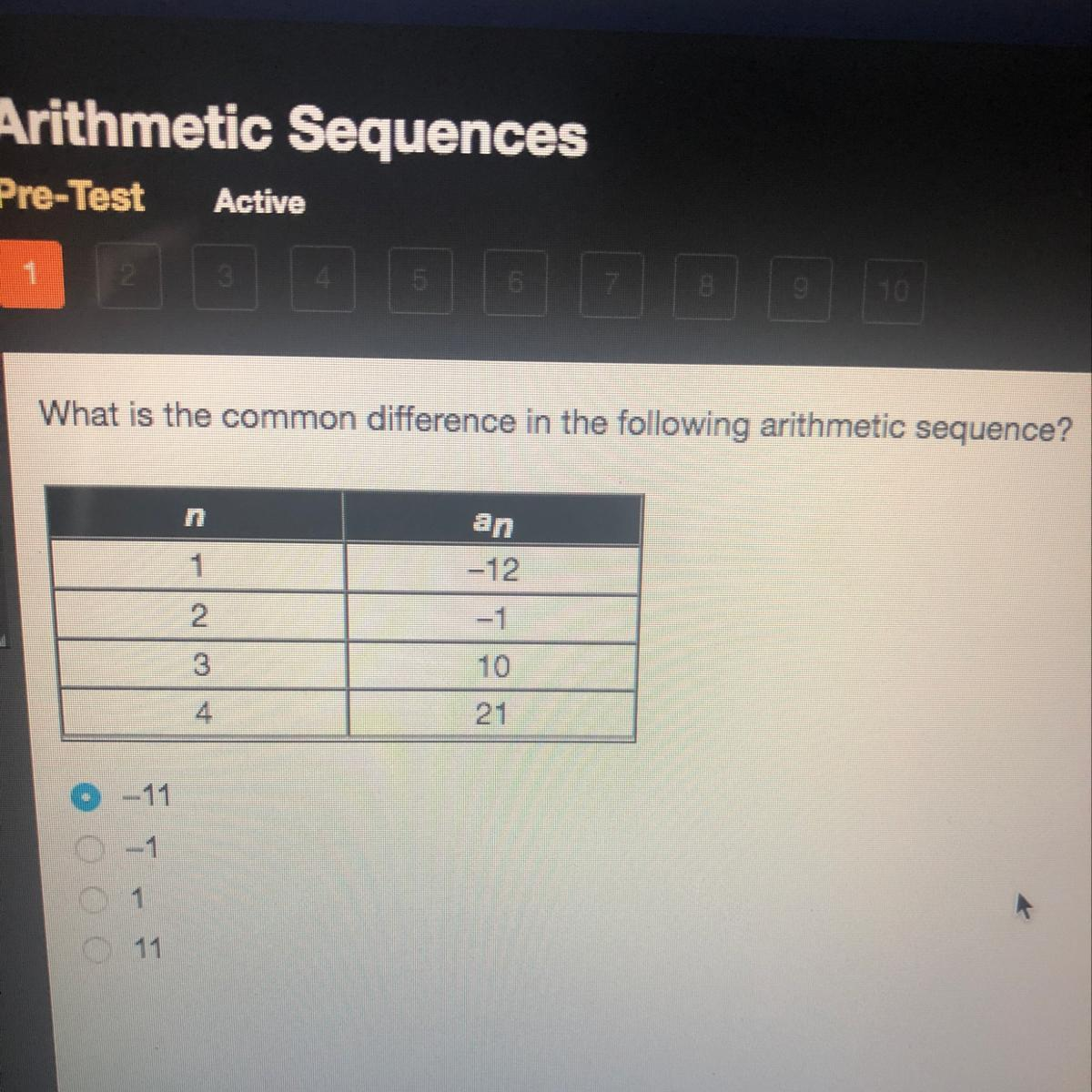 What Is The Common Difference In The Following Arithmetic