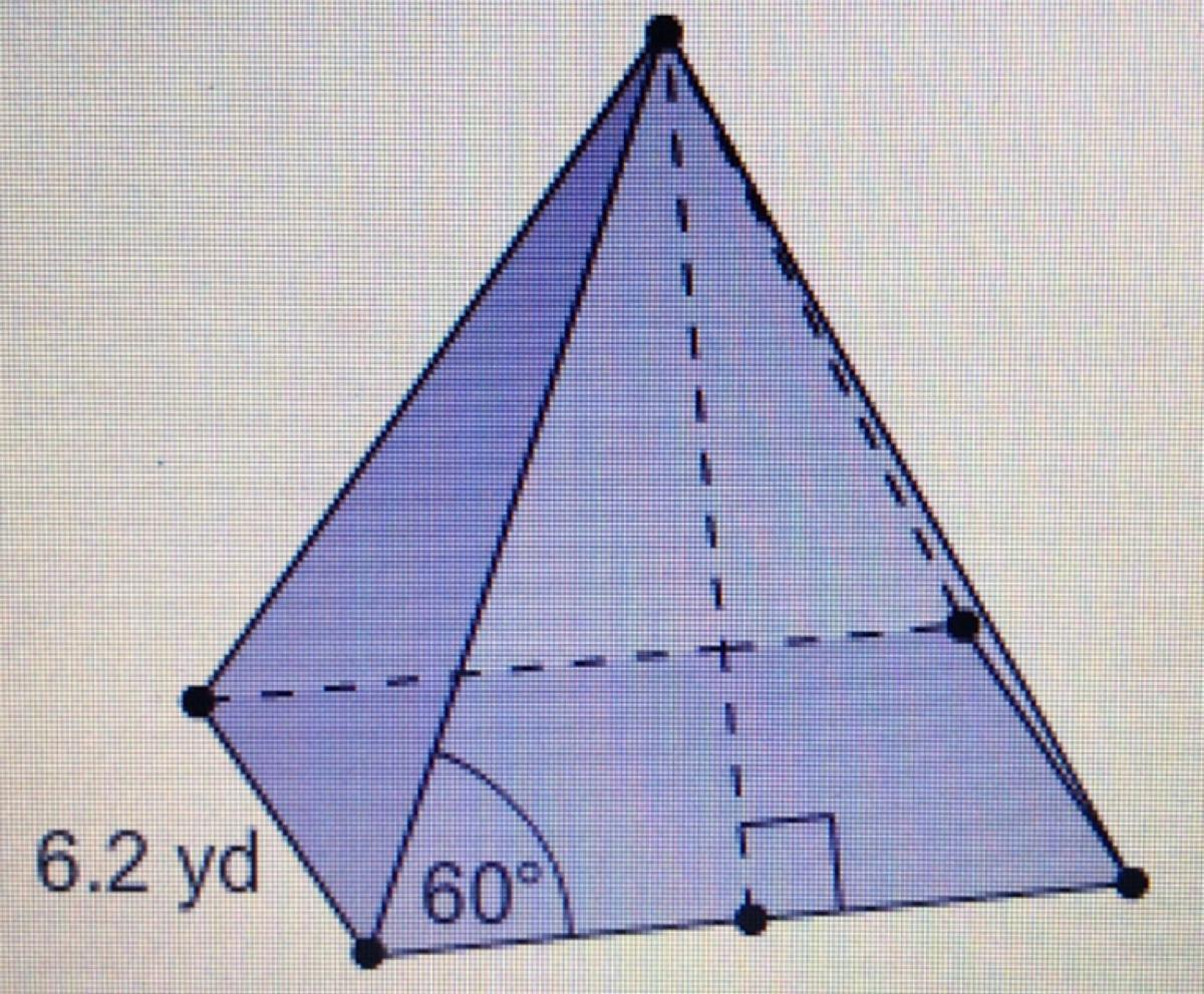 What Is The Surface Area Of This Square Pyramid Round