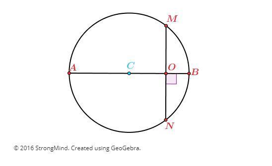 Examine the following diagram, where segment AB is a