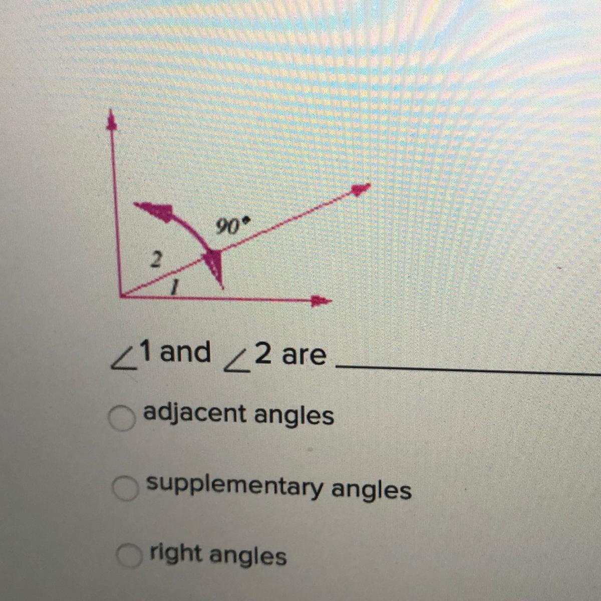 1 And 2 Are Adjacent Angles Supplementary Angles