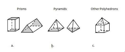 Some polyhedrons are neither prisms nor pyramids. a.true b