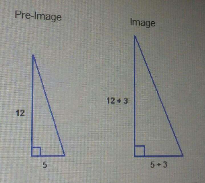 *WILL MAKE BRAINLIEST* which statement about these triangles is true? a) The dilation is an - Brainly.com