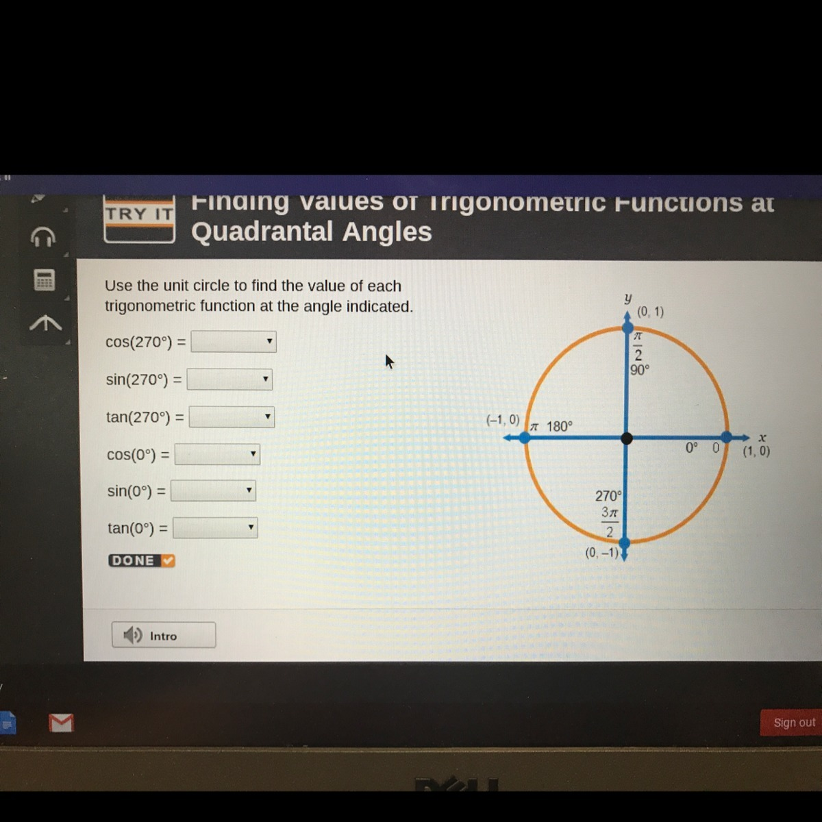 Use The Unit Circle To Find The Value Of Each