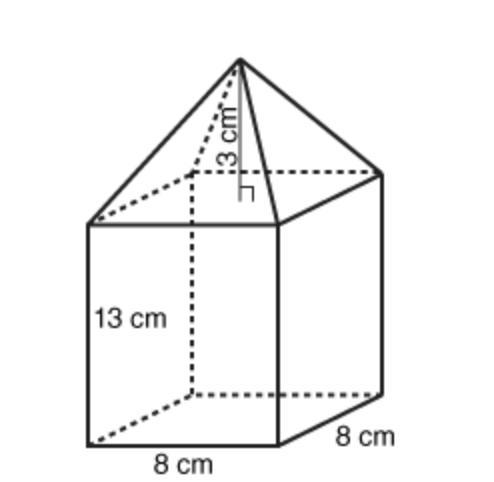 The composite figure is made up of a rectangular prism and