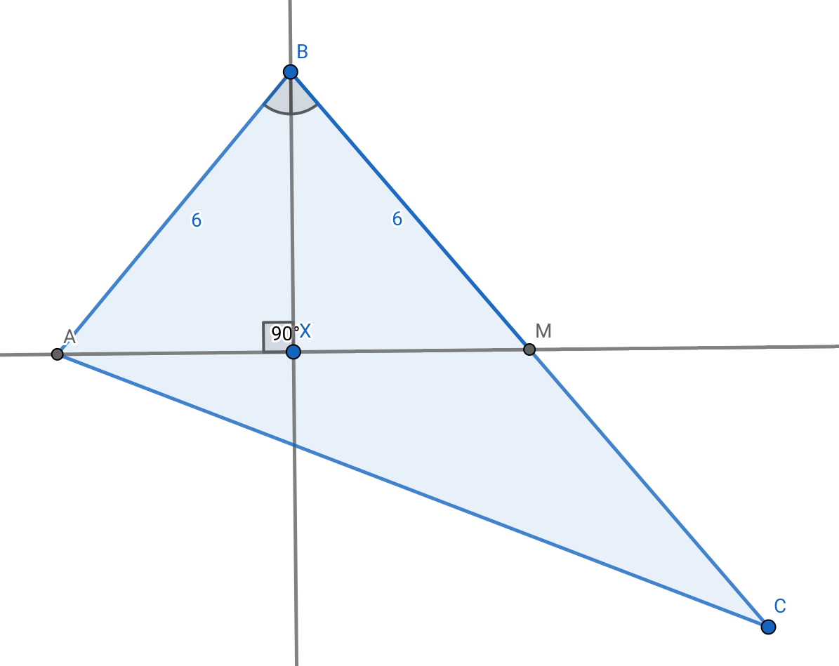In Abc The Median Am M Bc Is Perpendicular To The