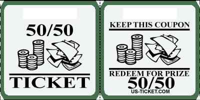 Premium 50 50 Raffle Ticket Roll