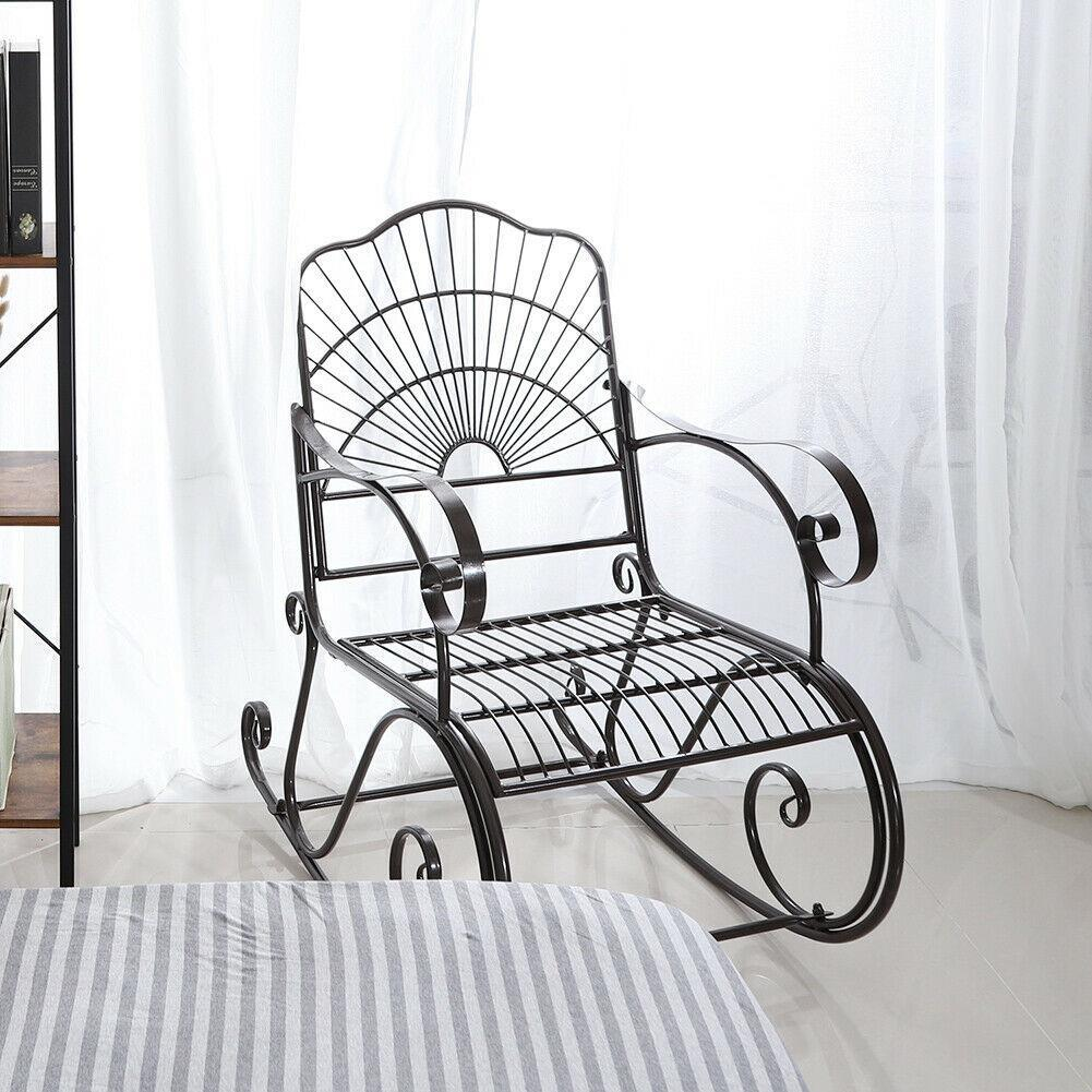 porch rocking chair wrought iron
