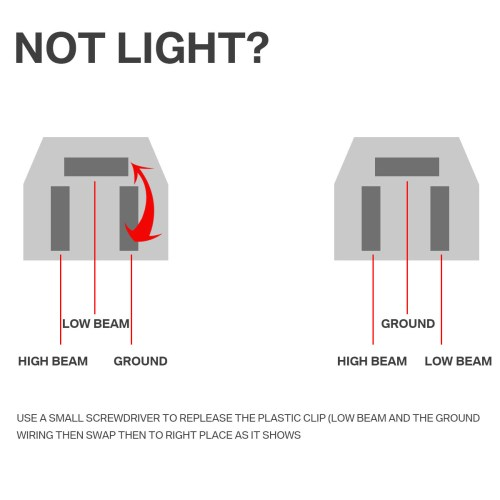 small resolution of cree led headlight wiring diagram wiring diagram centre7 x6 5 x7 45w cree led headlight bulbs high low beam crystal clear7 x6