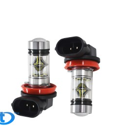 details about 2x h11 h8 h16 100w 6000k super white fog lights 2323 led driving bulbs drl usa [ 1000 x 1000 Pixel ]