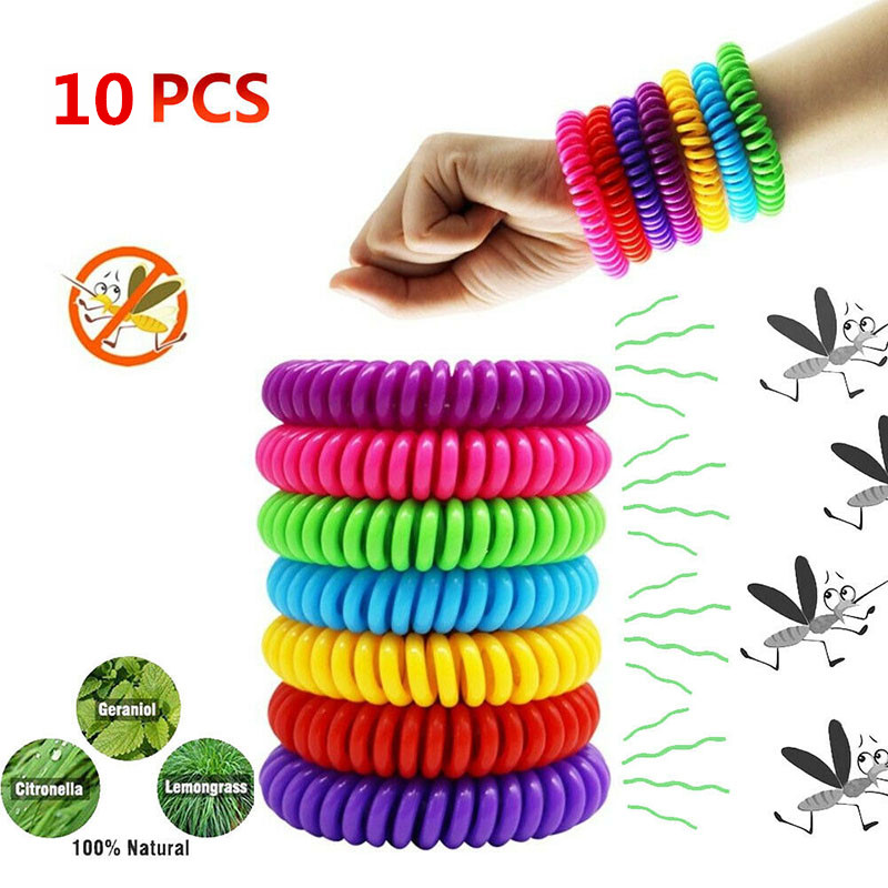 5 Pcs Anti Mosquito Bug Repellent Bracelet Wristband ...