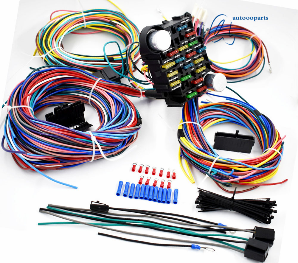 medium resolution of universal 21 circuit wiring harness for chevy mopar ford jeepuniversal 21 circuit wiring harness for chevy