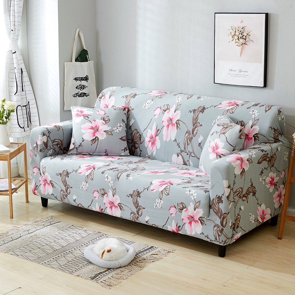 Elastic Floral Couch Stretch Sofa Cover Slipcover 1 4 Seat