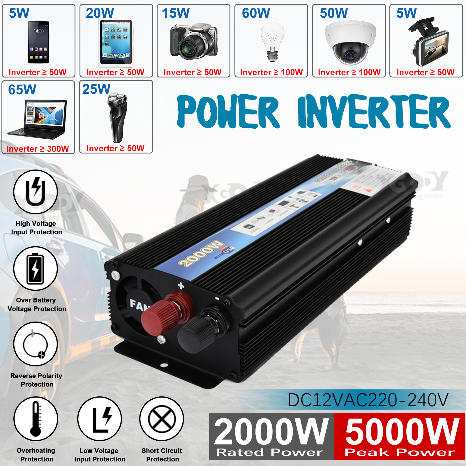 hight resolution of 2000w car solar power inverter dc12v to ac110v sine wave converter sine wave power inverter with charger 12v 220v 5000w circuit diagram