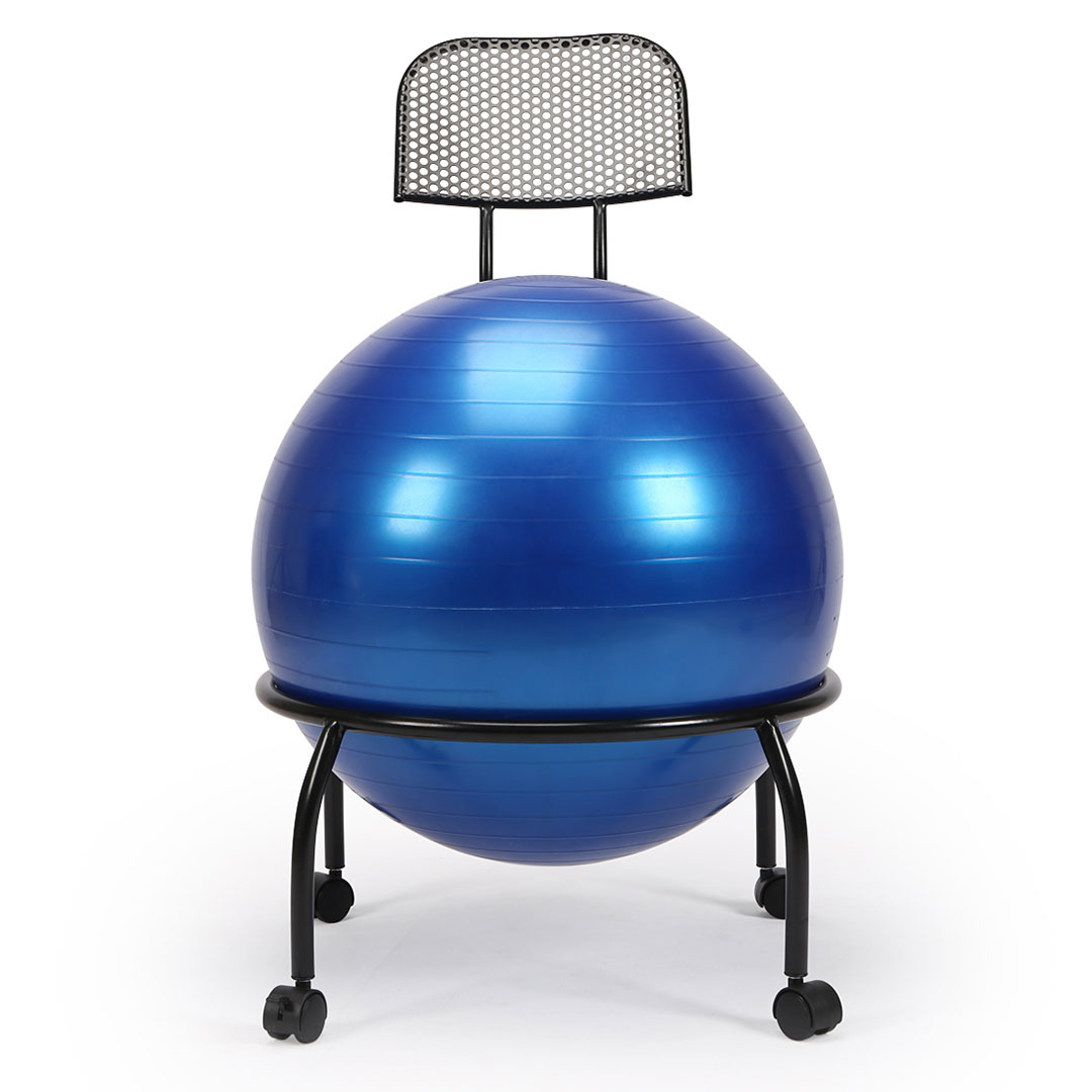 Yoga Ball Chair Balance Ball Chair with Back Support with
