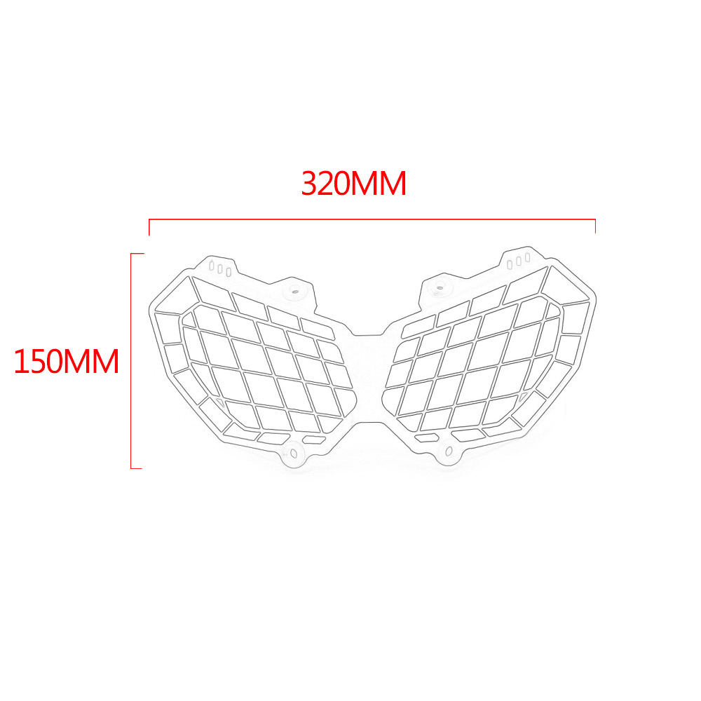 Motorcycle Grille Cover Headlight Protector Guard For