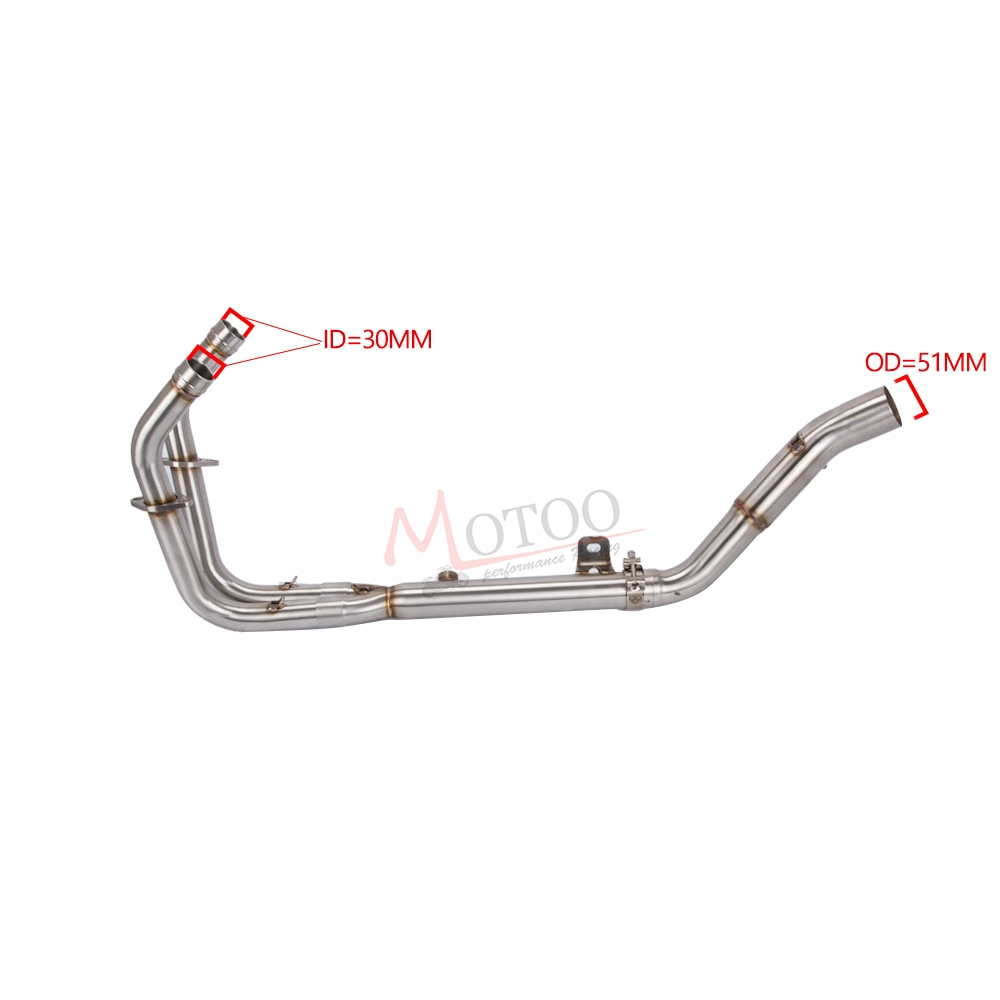 Motorcycle Full Exhaust System For Kawasaki Ninja 400
