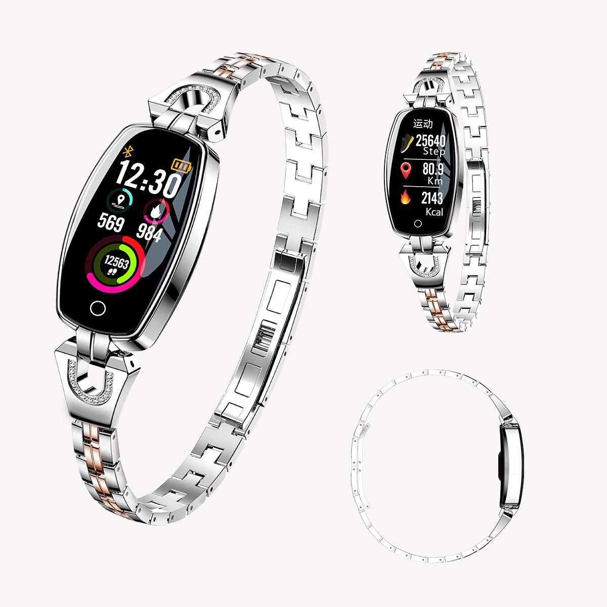 Women Bluetooth Smart Watch Heart Rate Monitor Phone Mate