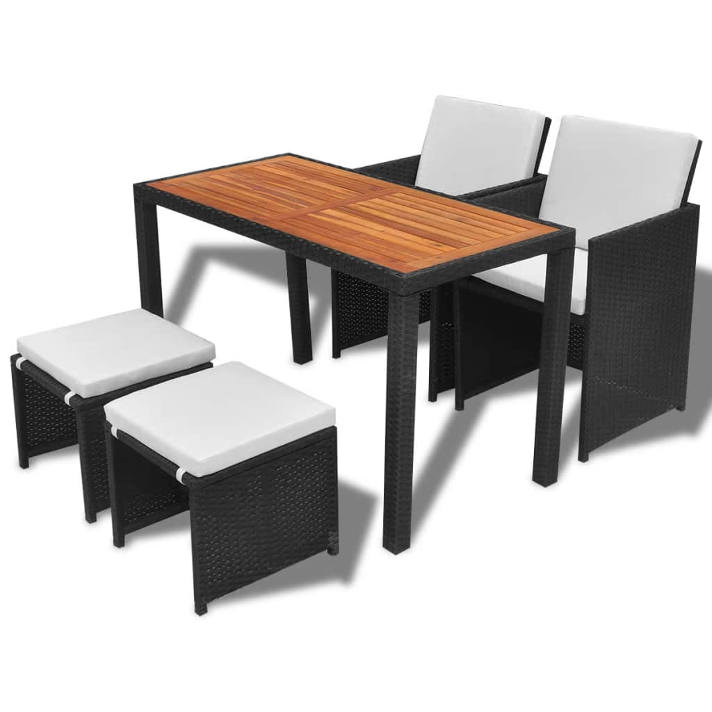 2 chairs and table rattan resin folding chair outdoor garden dining set wooden patio furniture