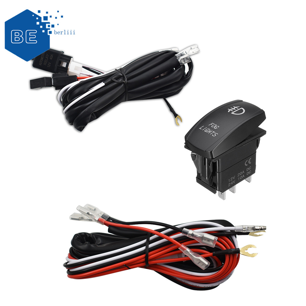 hight resolution of details about universal red led fog light wiring harness fuse laser rocker switch relay 12v