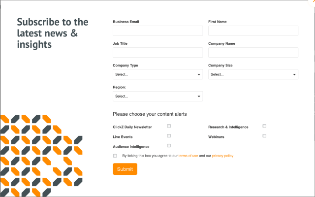 a complex subscription form example – list building tools and ideas.