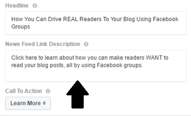 facebook ads to promote your blog