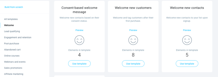 simple welcome email automation templates.