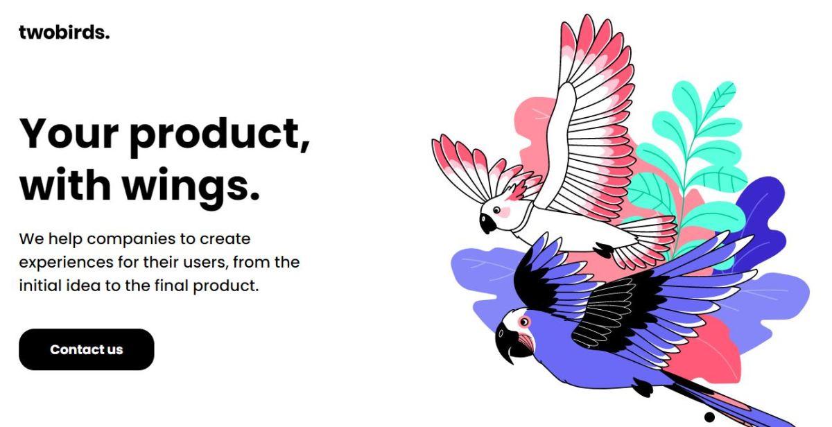 Example of a website with graphic design portfolio.