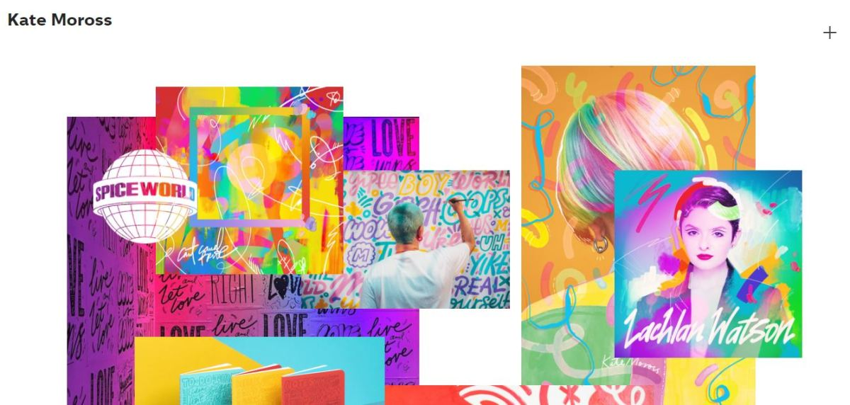 Graphic design portfolio website example.
