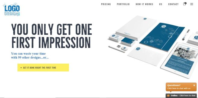 Website containing graphic design portfolio.
