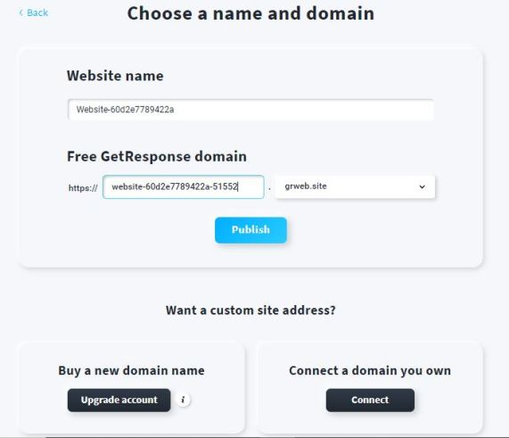 Choosing a name and domain for your website.