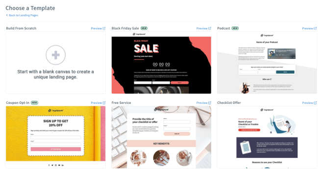 aweber landing page templates Twin Front