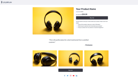 AWeber landing page featuring ecommerce integration.