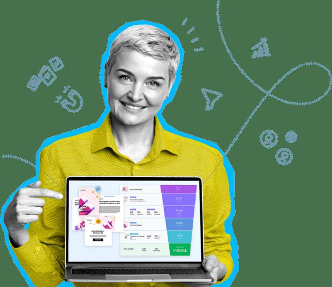 GetResponse est e-plateforme combinant email marketing, landing pages, webinaires et bien plus.