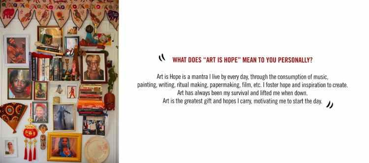 Art is hope banner image displaying the artist Khalif Tahir Thompson