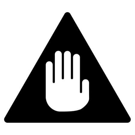 avertissement symbole noir plat