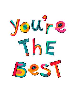 Your The Best Clip Art : Beste, Vectoren,, Illustraties, Clipart, 123RF