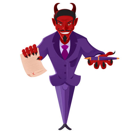 deal devil: image of a devil with a deal