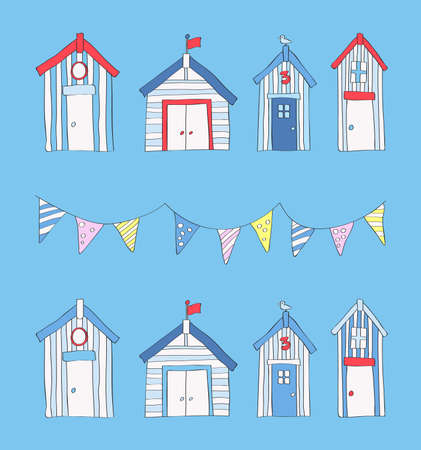 1 183 Beach Hut Stock Ilrations Cliparts And Royalty Free