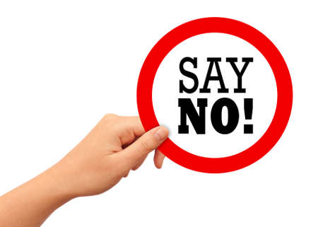 say no icons: Say no sign Stock Photo